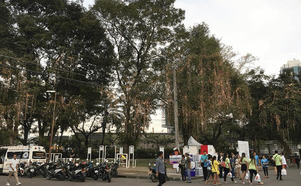 ルンピニー公園赤十字イベント