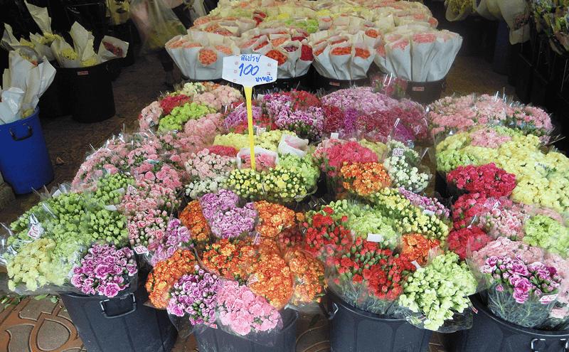 バンコクのパークロン花市場