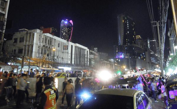 バンコクのカウントダウンの花火2019