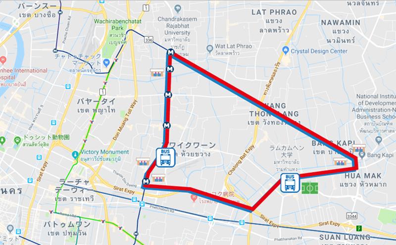 バンコク137番のバスルート