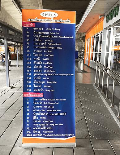 モチットミニバス・ステーション案内看板