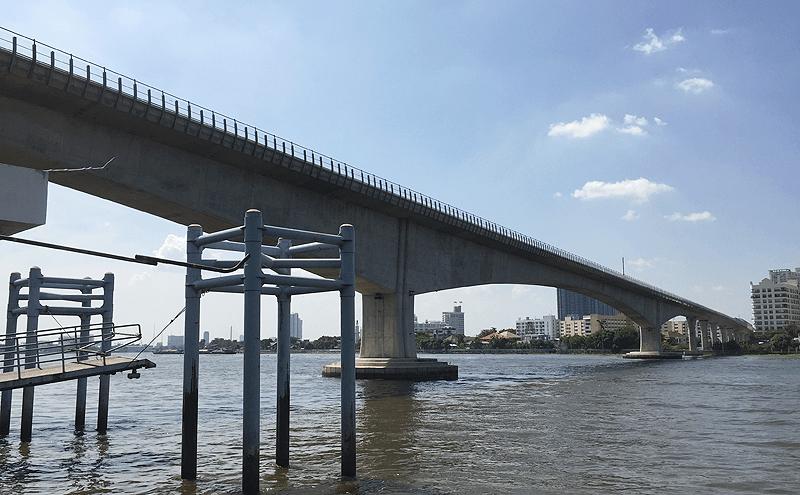 MRTバンフォー駅からチャオプラヤ川