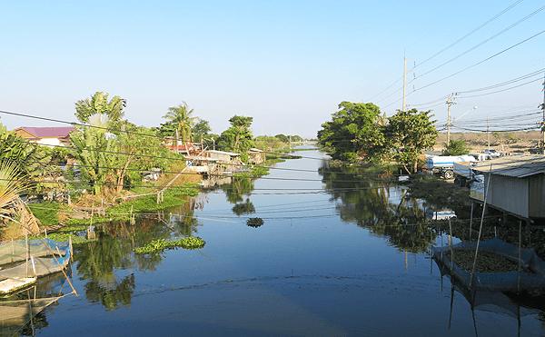 タイランド湾側の運河