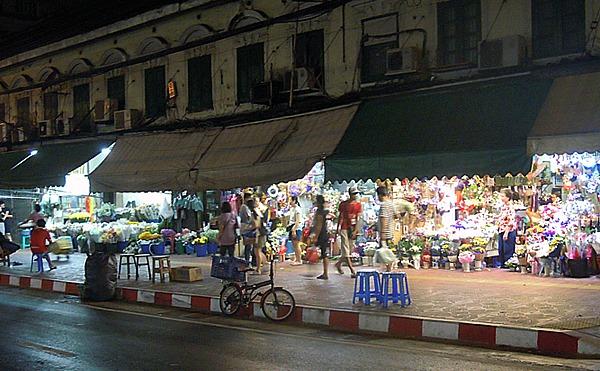 バンコクパークロン花市場