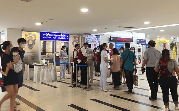 タイのイミグレーション、コロナウイルス対策
