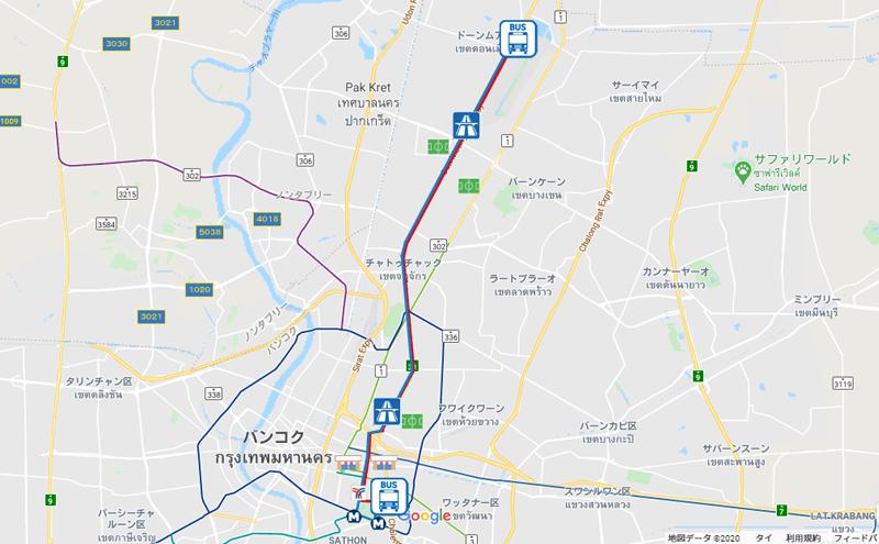 バンコクのバスルートA3