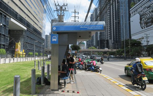 バンコクのRama9バス停留所