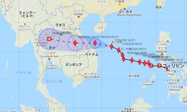 タイ台風進路