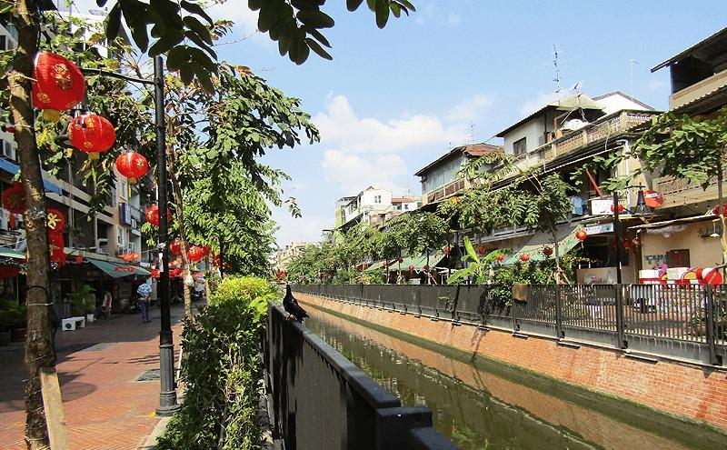 バンコクチャイナタウンのオンアン運河