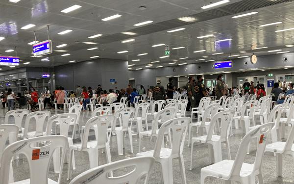 バンコクバンスー中央駅ワクチン接種会場